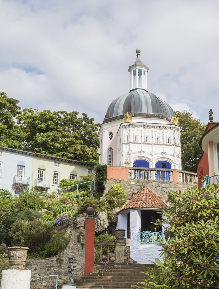 Italy?  No, this is actually Portmeirion in Wales.  29 Places you won't believe are in the UK