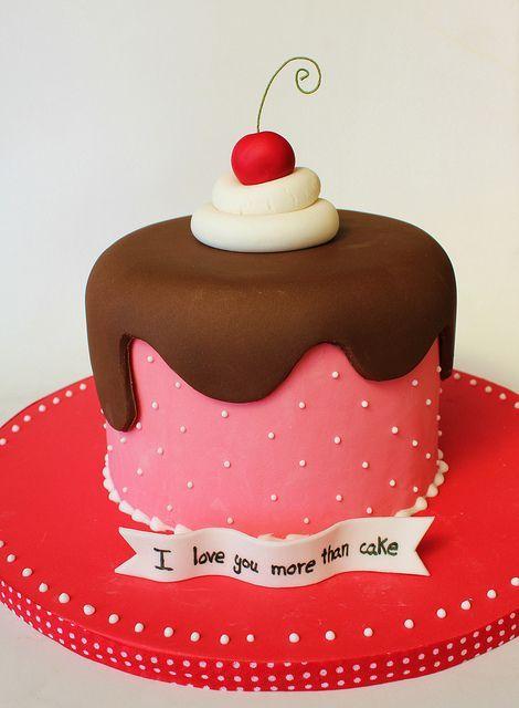 #KatieSheaDesign ♡❤ ❥▶  I Love you more than cake #ValentinesDay