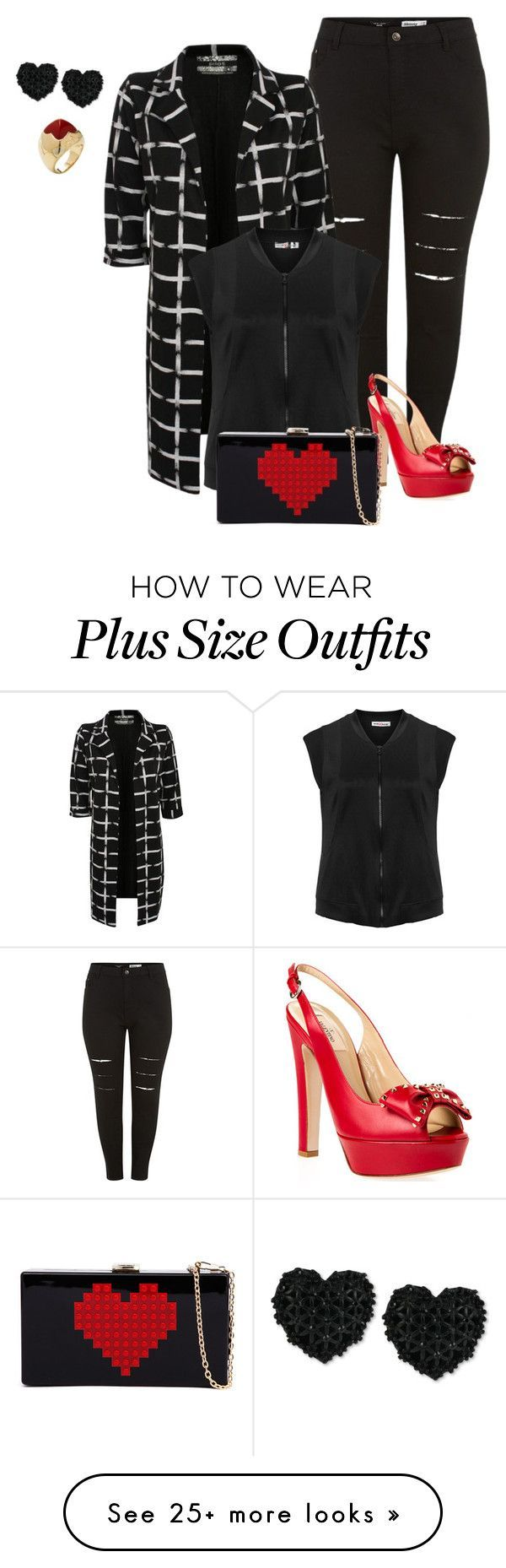 """""""plus size vday make it pop"""" by kristie-payne on Polyvore featuring Pilot, Valentino, Maxima, Betsey Johnson, Bulgari, women's clothing, women, female, woman and misses"""