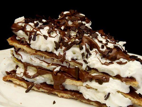 #Torta: Millefoglie con la #panna e nutella @guarnireipiatti