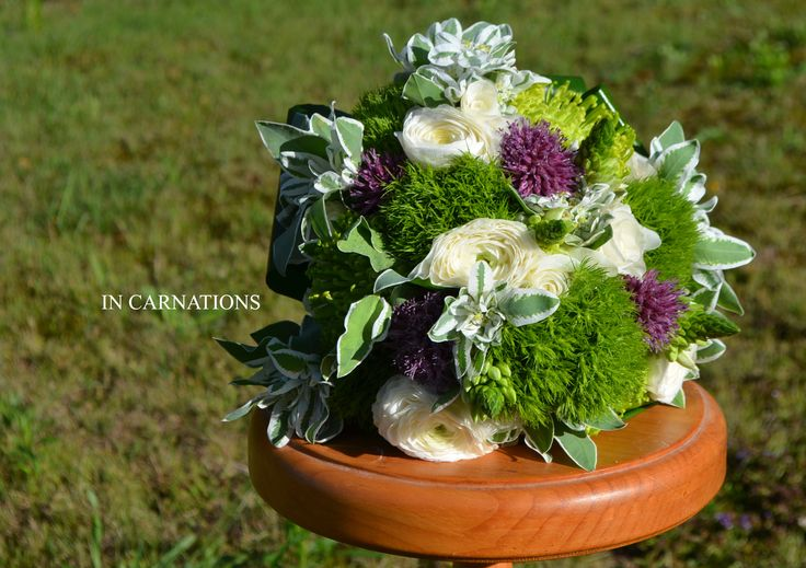 Green and purple. #Wedding, #bouquet,  by #InCarnations