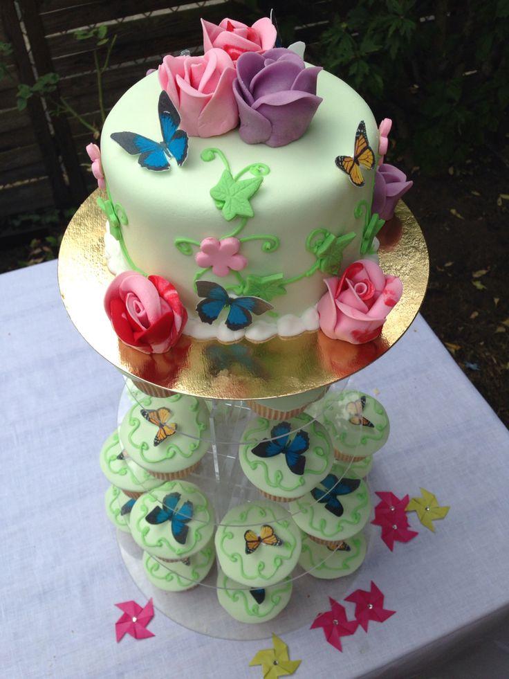 Gâteau Papillon cup cakes