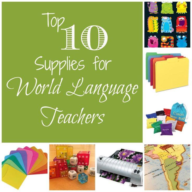 Teaching Supplies {for World Language Teachers}