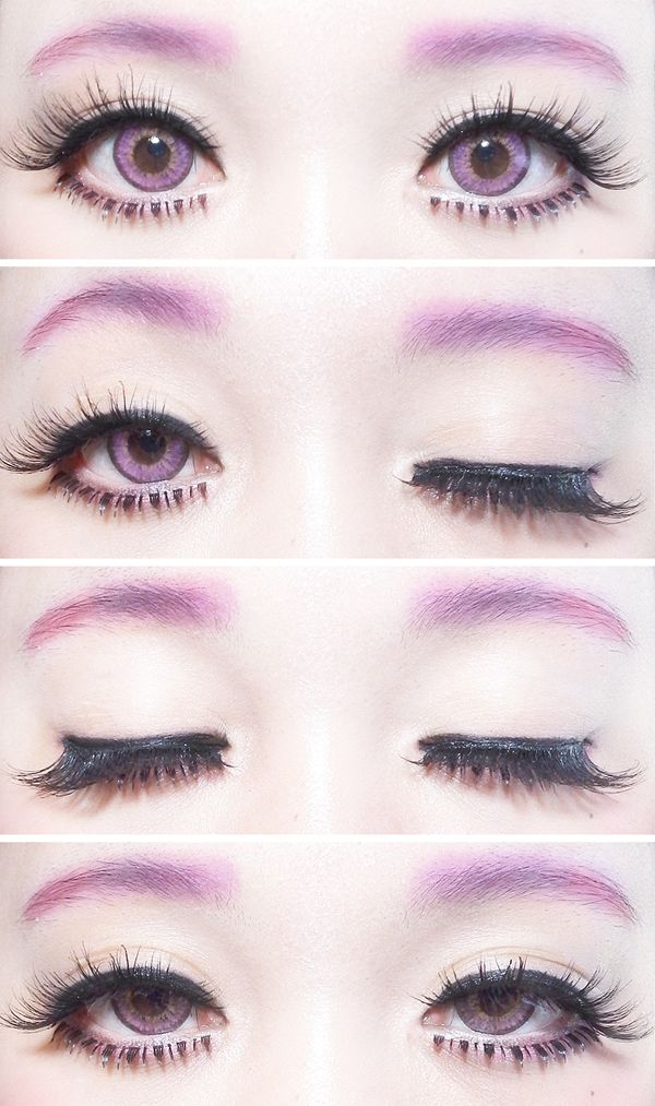 ichigoflavor: Winku~! It's the first time I included my eyebrows in an eye photo~