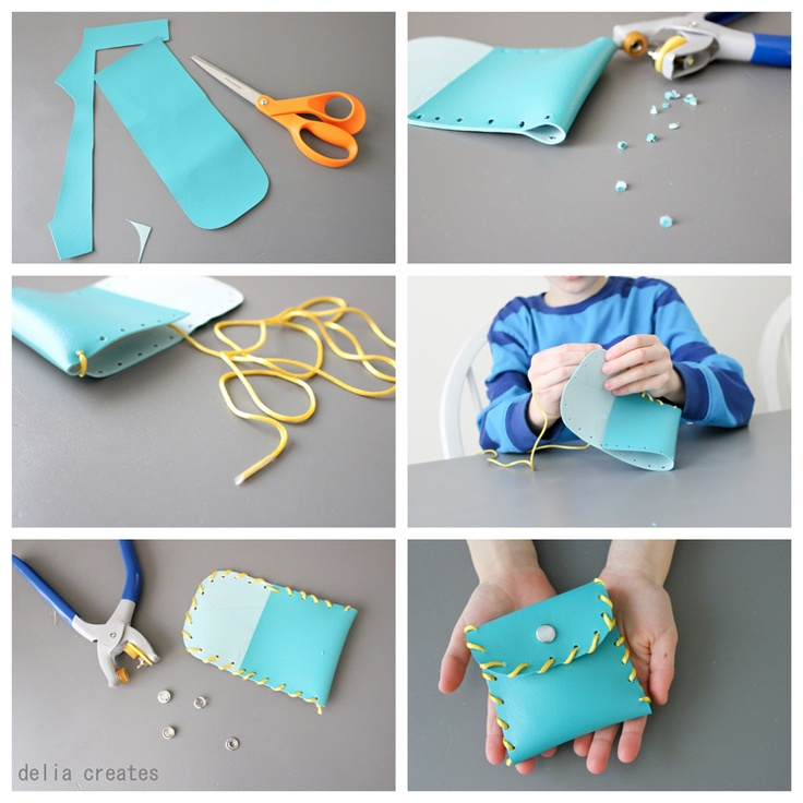 Easy DIY wallet, would be fun for kids.