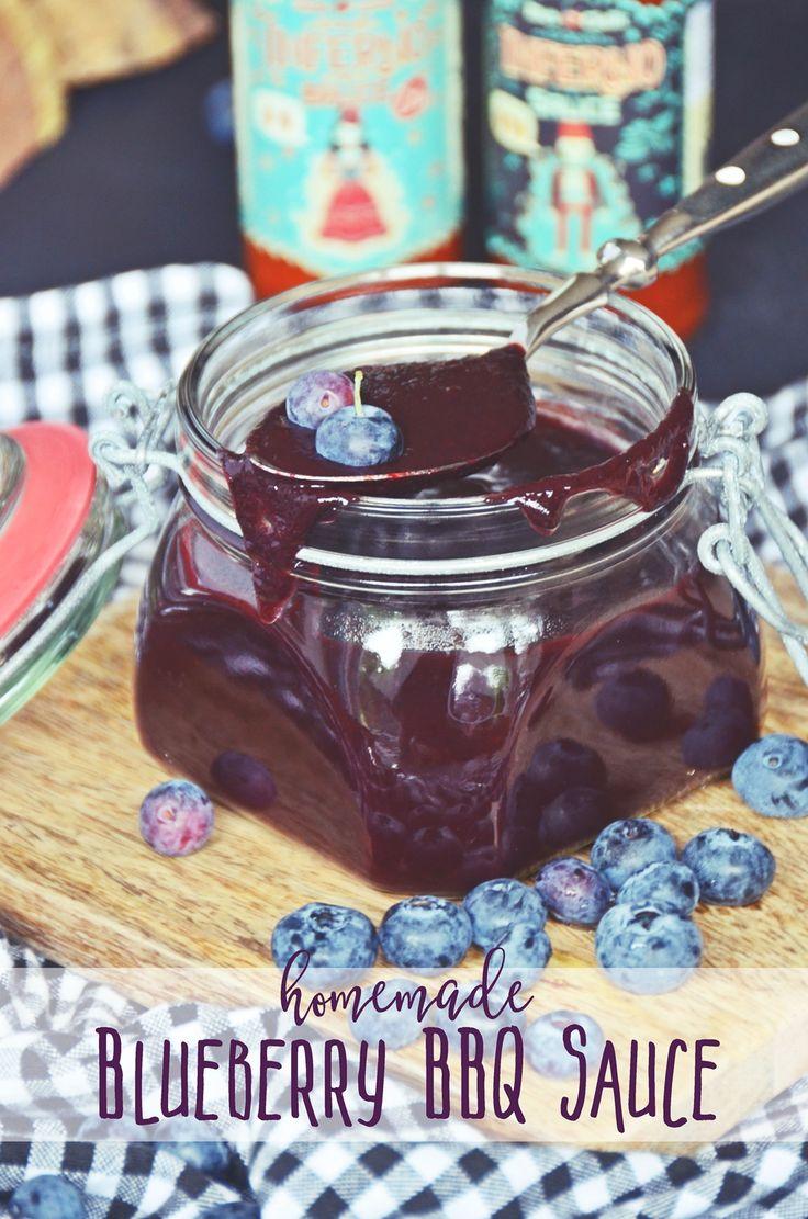Grillsaucen selbermachen - Rezept für hausgemachte Blaubeeren BBQ Sauce - homemade blueberry BBQ sauce recipe | luzia pimpinella