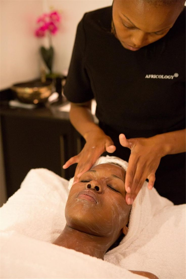 A facial at the Africology Spa