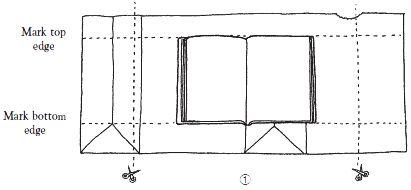 Figure 1: Make a paper bag book cover