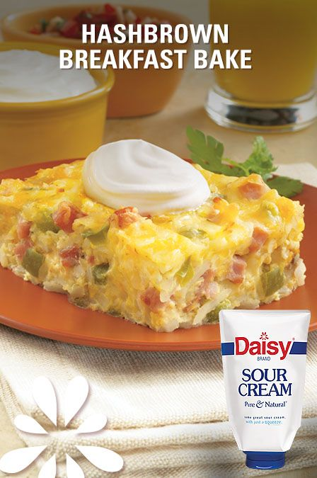 Savory and cheesy, this make-ahead breakfast bake is the perfect centerpiece for Easter brunch. Just pop it in the oven for 15 minutes, then top it with a dollop of Daisy. It'll bring them back for seconds!