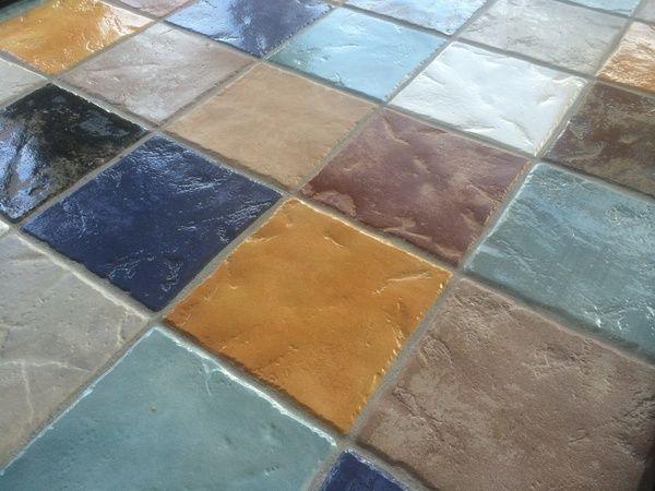 bont gekleurde tegels vloer keuken - Google zoeken