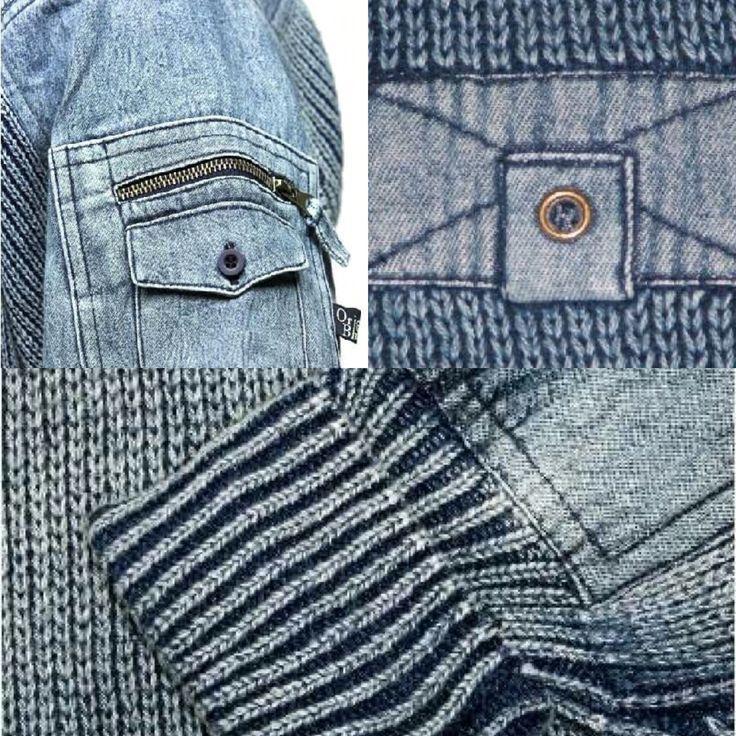 Detailed denim knitwear from www.originalblues.uk