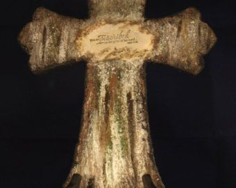 Items similar to Large Hand Painted Cross on Etsy