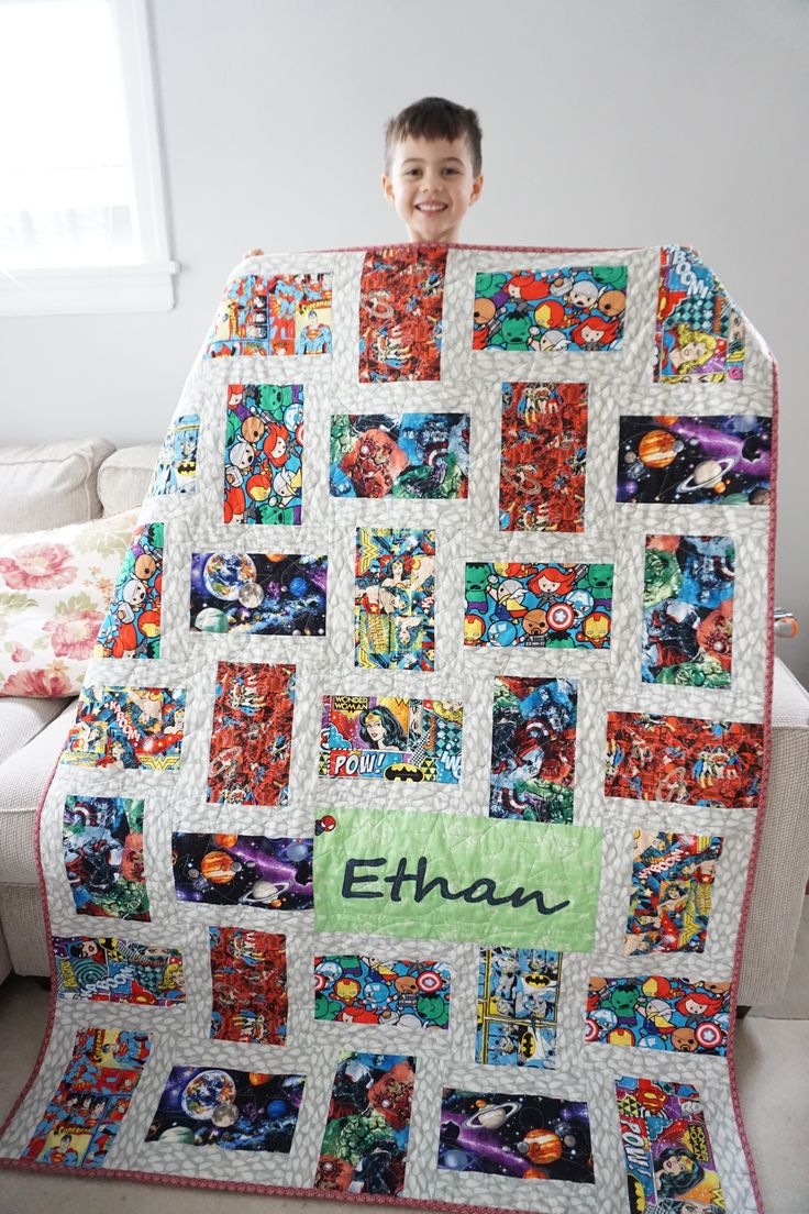 http://quiltingintherain.com/2017/02/superhero-quilt-with-fuzzy-backing.html
