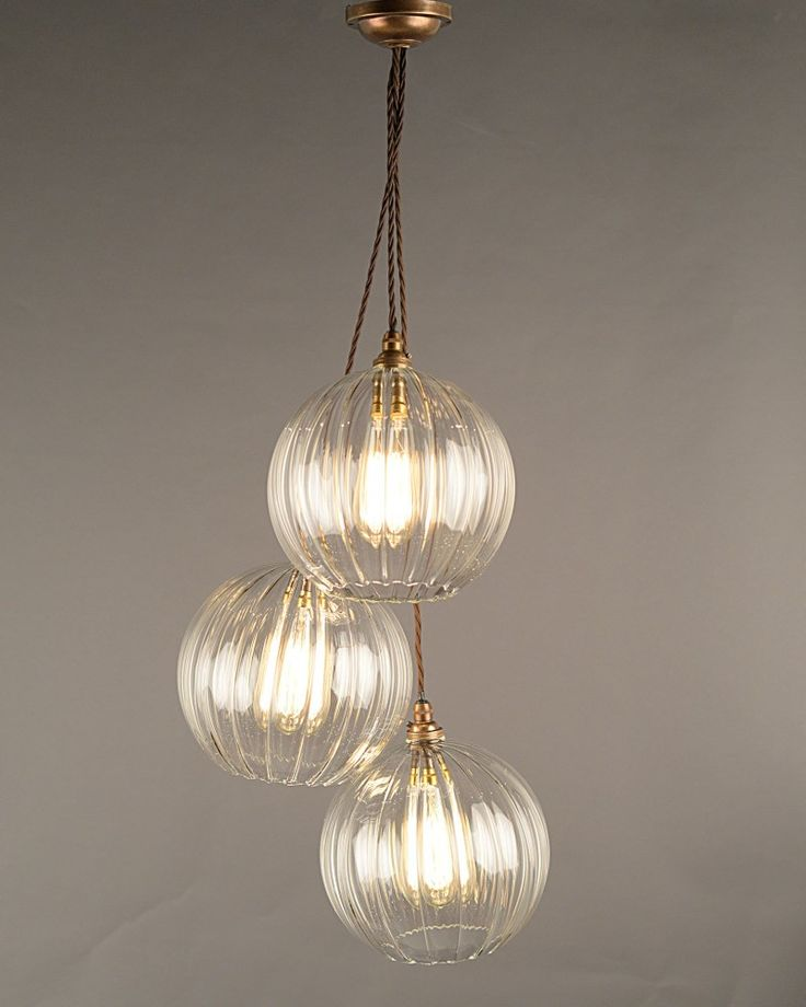 Multi-Pendant Chandelier - Hereford staggered cluster ...