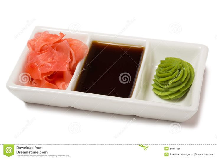 Pickled Ginger With Soy Sauce And Wasabi