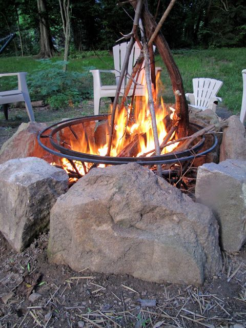 10 steps to creating an outdoor room upcycle diys for Step by step fire pit