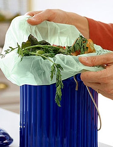 Biodegradable bags make it easy to collect kitchen scraps for composting