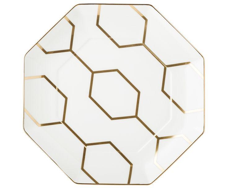 Weißer Teller mit Goldakzenten - WEDGWOOD >> WestwingNow | WestwingNow