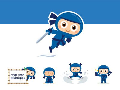 Ninja mascot dribbble