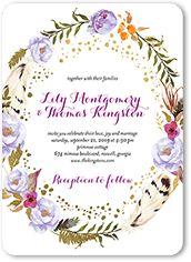 Purple Rustic Wedding Invitations | 5 FREE Samples & Free Shipping | Shutterfly