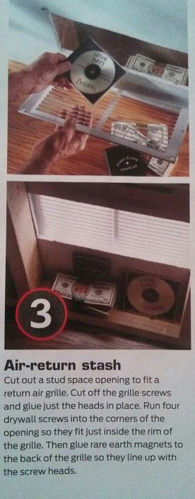 Stashing valuables via handyman magazine