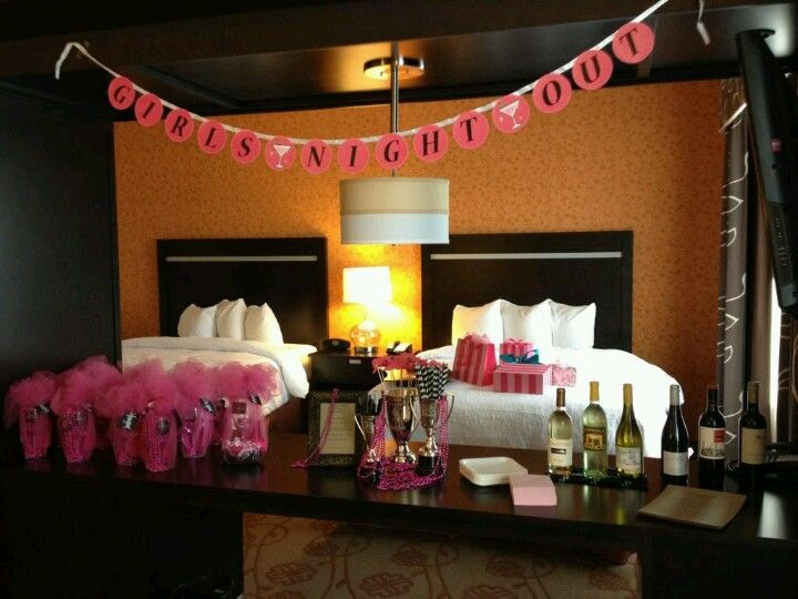 12 best bachelorette party decorating images on pinterest for Hotel room decor for birthday