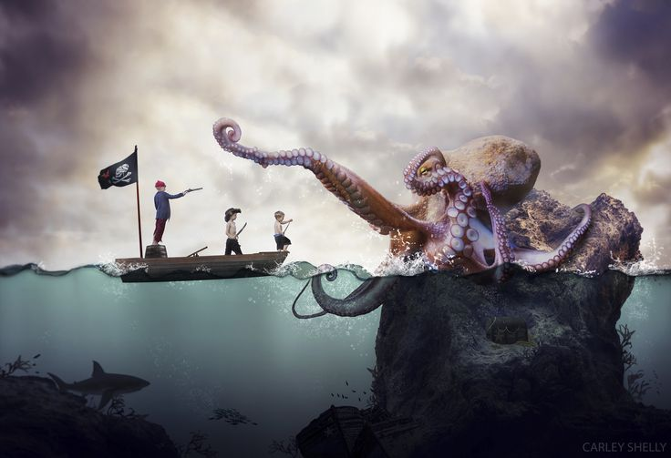 'X Marks the Spot' by Carley Shelly Photography.  Pirate creative composite, digital art, photographic art.