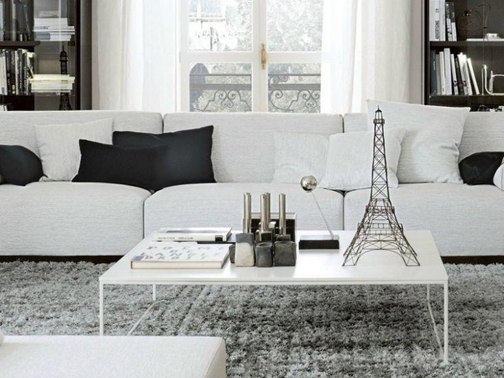 Table basse blanche pour le salon en 15 exemples magnifiques