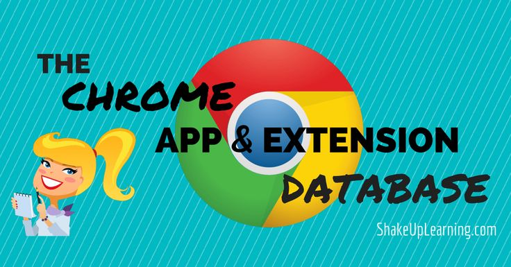 The Google Chrome App & Extension Database for Learners and Educators via Shake Up Learning by Kasey Bell