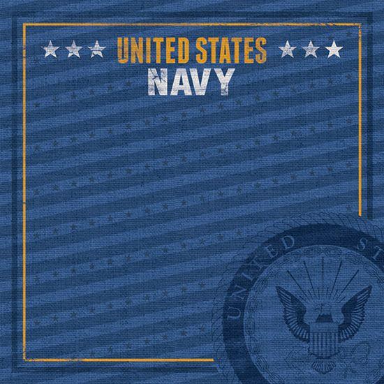 Paper House Productions - 12 x 12 Paper - US Navy Emblem at Scrapbook.com