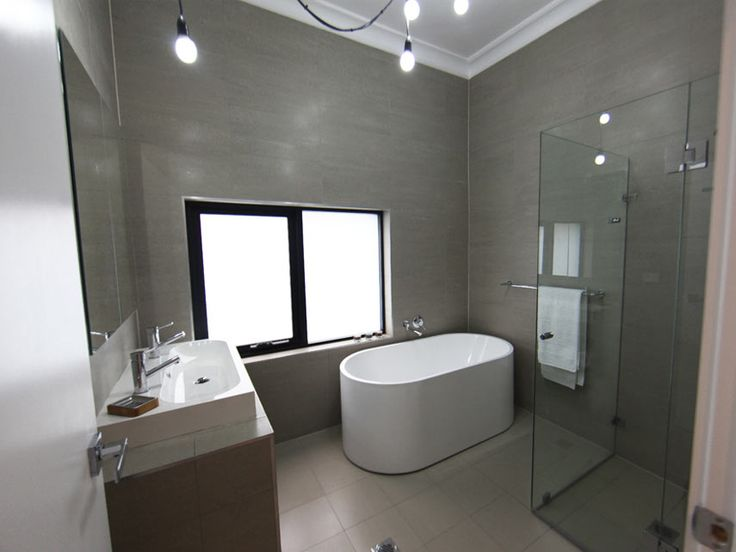large grey tiles up to ceiling on wall bathroom pinterest