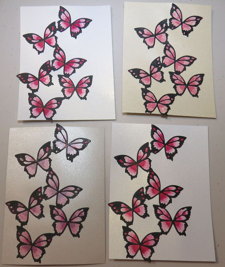 2015.04.19 PINK BUTTERFLY CARD FRONTS
