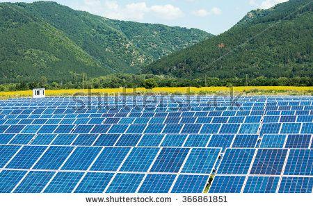 Solar farm in mountain area