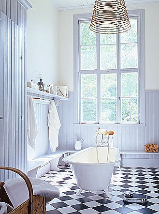 i will definitely have black & white checkered floors somewhere in my house.