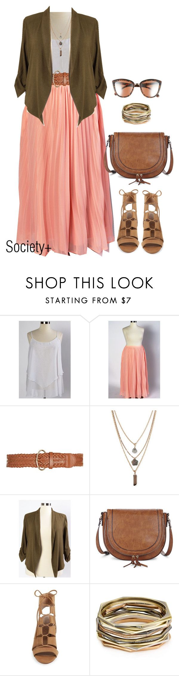 """Plus Size Pleated Skirt - Society+"" by iamsocietyplus on Polyvore featuring Forever 21, Sole Society, Splendid, Kendra Scott, BP., plussize, plussizefashion, societyplus and iamsocietyplus"