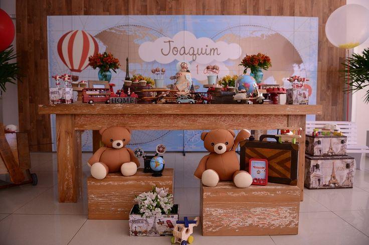 Este é o aniversário volta ao mundo do Joaquim, super inspirador!