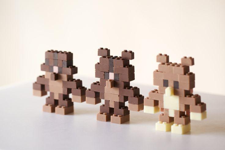 Akihiro Mizuuchi Created LEGO Chocolate Bears for Valentine's Day