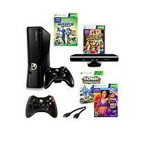 Xbox 360 4 Gb Kinect System with Zumba Fitness World Party, Sonic Generations, Extra Controller & HDMI Cable