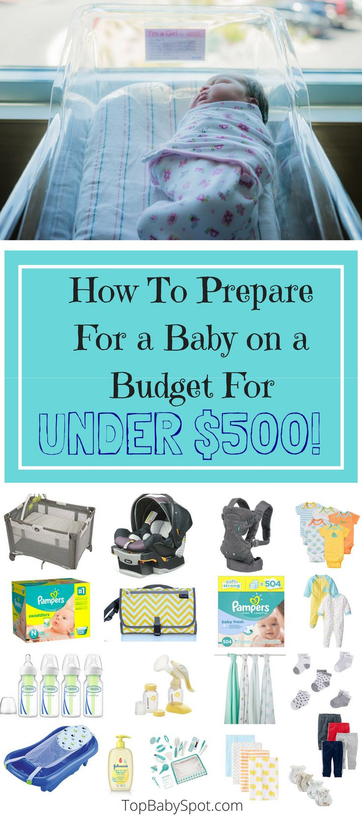 Having a baby doesn't have to break the bank!  Checkout these bare-bone essentials (from a mom of 2) to prepare for your baby for under $500!  A must read for any expectant parent.