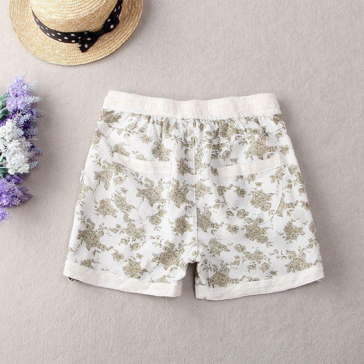 2015 cortocircuitos de las mujeres cordón de las señoras mujeres lindas de la flor de impresión cortos de verano truosers cortos el envío libre