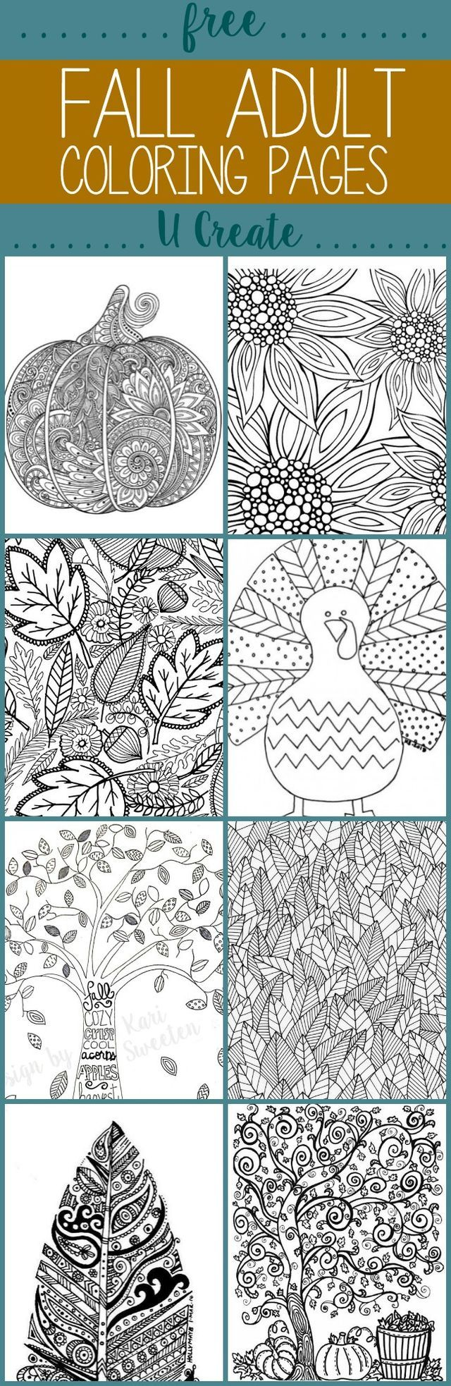 Free coloring pages for relaxation - Free Fall Adult Coloring Pages U Create