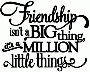 Silhouette Online Store: friendship is a million little things - vinyl phrase