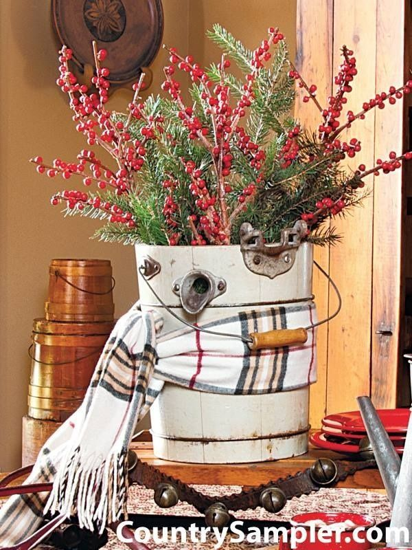 114 best Country Christmas Decor images on Pinterest Christmas - country christmas decorations