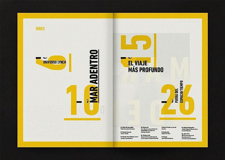 Editorial Design Inspiration: David Lynch #layout #design