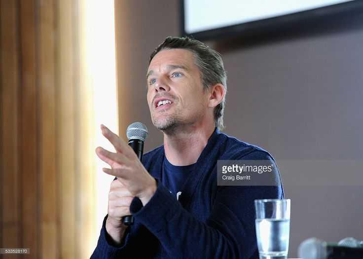 Actor Ethan Hawke speaks onstage during the Ethan Hawke In Conversation interview at the Vulture Festival The Standard at The Standard on May 22, 2016 in New York City.