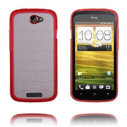 Gjennomsiktig Bakdel (Rød) HTC One S Deksel