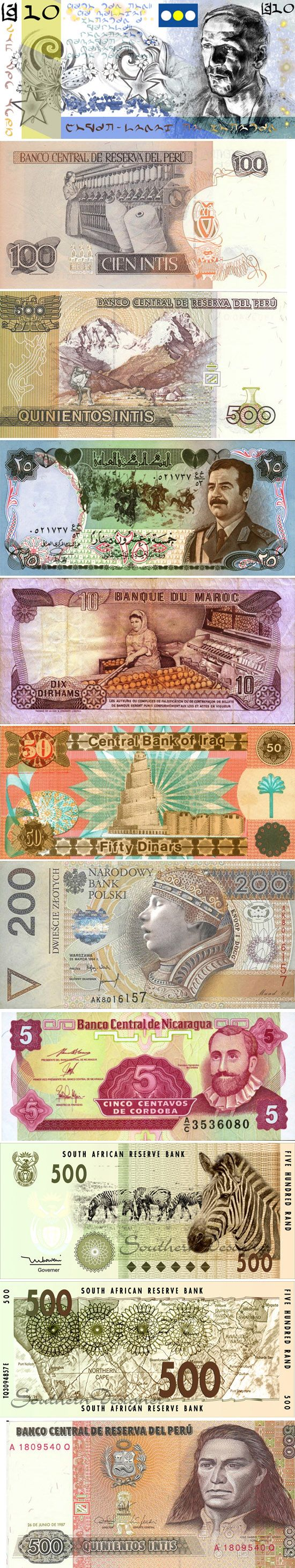 Beautiful Artwork and Graphic Designing On a Banknote - Color of Money..
