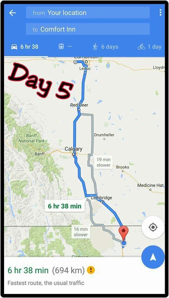 Edmonton, Alberta Canada  to Shelby, Mt