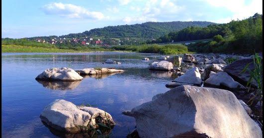 rzeka Skawa w Tarnawie Dolnej #Poland #Polska #TarnawaDolna #Skawa