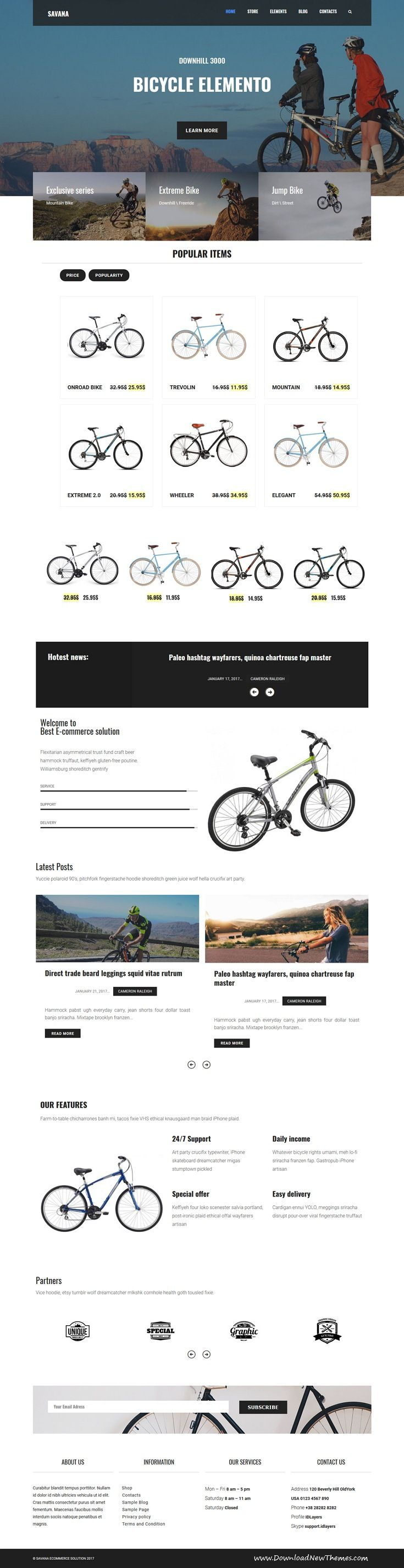 Savana is beautiful typography and elegant structure 2in1 responsive #WooCommerce #WordPress theme for stunning #bike and watch store #eCommerce website to live preview & download click on Visit 👆